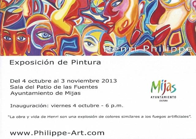 Art exhibition in the ayuntamiento of Mijas - 4th oct-3th nov 2013