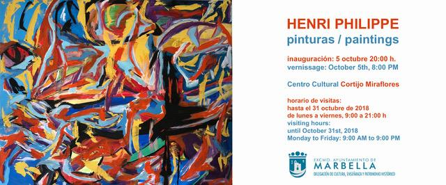Vernissage of the art exhibition in the Centro Cultural Cortijo Miraflores, Marbella on 5th Oktober 2018, 20 pm
